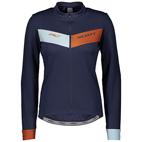 SCOTT Camiseta RC Warm L/S Maillot, Mujer, bl nit/bo cy, EU