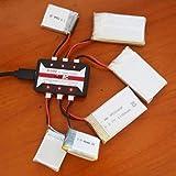 Dswe Chargeur de Batterie HotRc A100 6 en 1 3.7V Lipo avec Protection Contre la surchauffe pour Hubsan X4 Q4 H107L H107C WLtoys