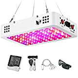 1000W LED Grow Light, Full Spectrum Plant Light with Dual Switch & Dual Chips, Grow Light for Hydroponic Indoor Plants Veg and Flower (10W LEDs 100Pcs)