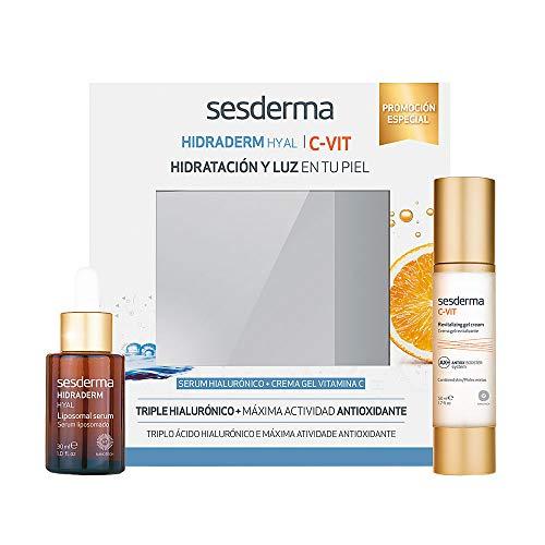 Sesderma Hidraderm Hyal Liposomal Serum Facial, 30ml+C-Vit Radiance Fluido Luminosidad Antiarrugas, 50ml