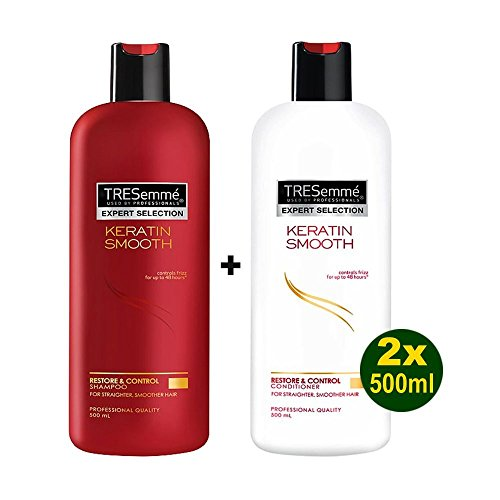 Tresemme Keratin Smooth Shampoo & Conditioner - Xl - 500Ml Each For use after Keratin Treatments