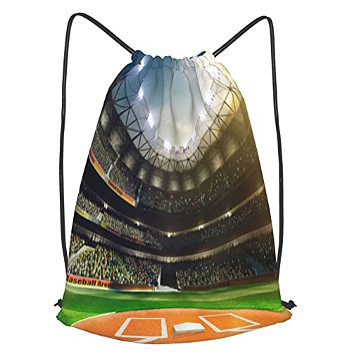 Sacca Zaino Coulisse,Professional Baseball Grand Arena alla luce del sole,Borsa da Ginnastica Sportive bag Nuoto Kit Zaino Palestra Borsa da Spiaggia,Perfetto per scuola, sport, spiaggia e viaggi