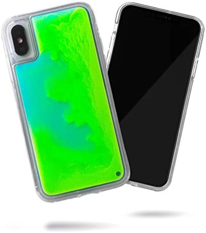 SteepLab Flowing Neon Sand Liquid Case for iPhone Xs iPhone X Full Body Protection with Raised product image