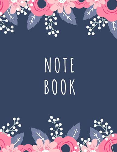 Notebook: 500 Page 8.5 x11  College Ruled (Lined) Giant Notebook Flower Design for Professionals, Students, Artists, Writers and Teachers