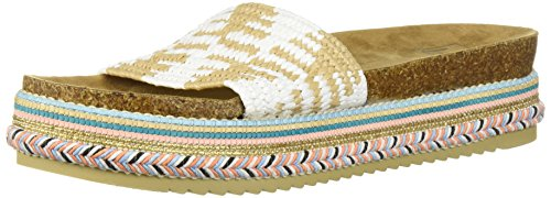 LFL by Lust for Life Women's LL-Pike Wedge Sandal, White Raffia, 8.5 Medium US