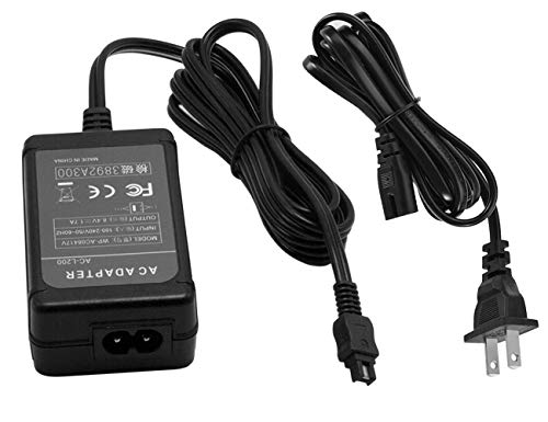 Sinfoxeon AC-L200 Replacement Camera AC Power Adapter Charger kit AC-L200C AC-L25 AC-L25A AC-L25B AC-L25C for Sony Handycam DCR-SX40 DCR-SX41 DCR-SX44 DCR-SX60 DCR-SX63 DCR-DVD305 DCR-DVD308