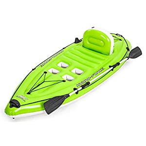 BESTWAY 65097 - Kayak Hinchable Hydro-Force Koracle 270x100 cm Individual con Remo y Bomba 6