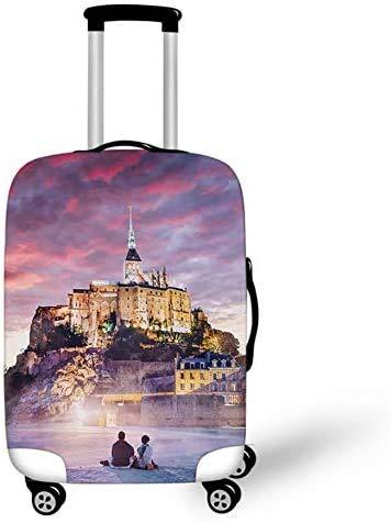 Suitcase Cover Protector Suitcase Cover Castle Landscape Art Design Trolley Case Luggage Storage Covers Size XL Travel Trolley Case Cover 29-32 Inch