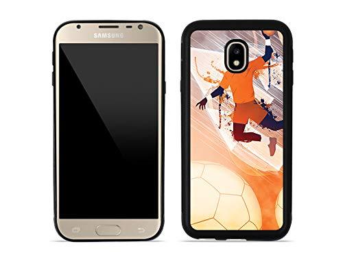 etuo Handyhülle für Samsung Galaxy J3 (2017) SM-J330 - Hülle Aluminum Fantastic - Handball - Handyhülle Schutzhülle Etui Case Cover Tasche für Handy