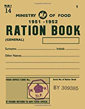 Ministry of Food 1951 Ration Book: Daily Diary / journal / notebook to write in and recording your thoughts.