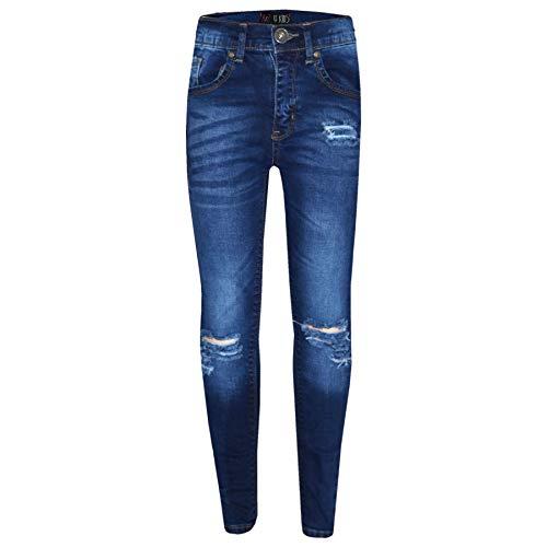 A2Z 4 Kids® Mädchen Dehnbar Blau Jeans Kinder - Girls Jeans Ripped Blue_13