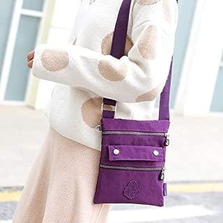 HAWEEL Anti-Theft Classic Retro Messenger Travel Leisure Fashion Nylon Waterproof Slant Shoulder Bag(Purple) Sling Crossbody Mini Purse One Size