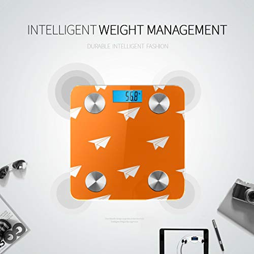 Colorful Paper Airplane Best Rated Bathroom Scales Body Fat Measurement Bathroom Scale Tracks 8 Key Compositions Analyzer Sync with Fitness Apps 400 Lbs