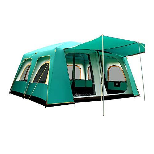 LiRongPing Großes Zelt 10-16 Familienzelt, Mehrpersonen-Doppeldecker, Campingpark, Camping, großes Zelt, wasserdicht, großer Raum