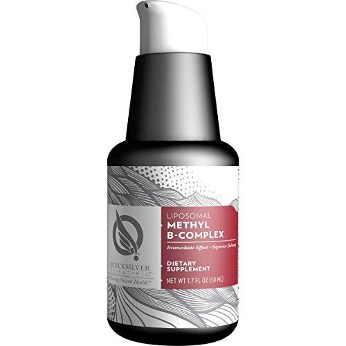 Quicksilver Scientific Liposomal Methyl B-Complex - Methylated B-Complex Liquid Vitamins - Milk Thistle, Folate + Methylcobalamin - Detox, Immune, Mood, Liver + Energy Support - Vegan (1.7oz / 50ml)