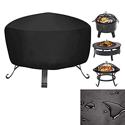 Mioke Fire Pit Cover,Heater Cover Waterproof Breathable Oxford Fabric Outdoor Garden Patio,UV Protector (80 * 80 * 65cm) by Mioke