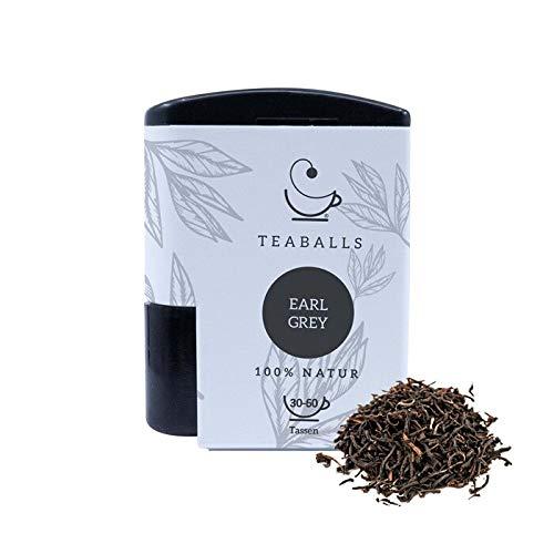 TEABALLS - Schwarzer Tee Earl Grey (1 x 6g) | 120 Teaballs | für ca. 30-60 Tassen Tee | 100% reines Pflanzenextrakt | Bekannt aus: DAS DING DES JAHRES