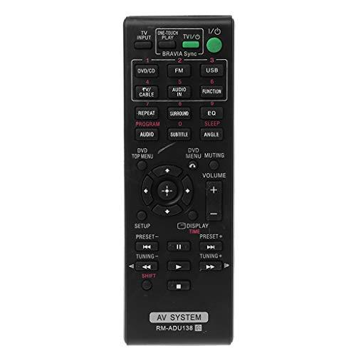 qiulip RM-ADU138 - Mando a Distancia para Receptor de Audio y vídeo Compatible con Sistema de Cine en casa Sony AV DAV-TZ140 HBD-TZ130 HBD-TZ140