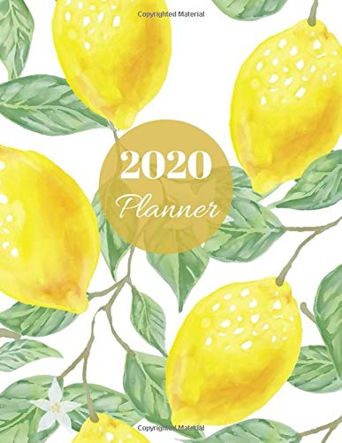 2020 Planner: Cute Green Fruit Lemon Daily, Weekly And Monthly Calendar Schedule With Tabs. Jan 2020 - Dec 2020 Year Organizer With To Do list ... Stylish yellow leaf Color Personal Date Log