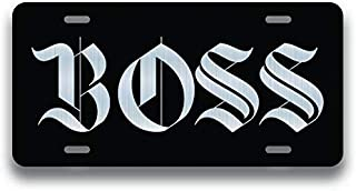 the boss license plate