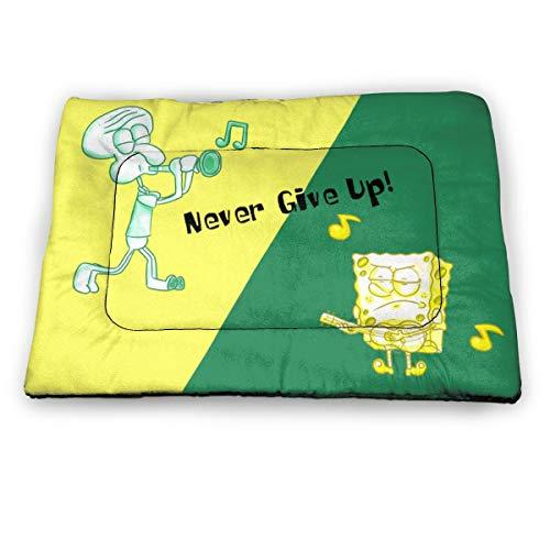 KANKANHAHA Cartoon Spongebob Schwammkopf Hundebett Matte Weiche Kiste Pad waschbar Anti-Rutsch-Matratze für Hunde und Katzen