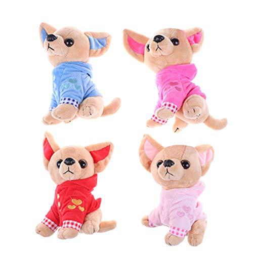 TOOGOO 1 Stücke 17 cm Chihuahua Welpen Kinder Spielzeug Kawaii Simulation Tier Puppe Geburtstags Geschenk Für M?dchen Kinder Nette Gefüllte Hund Plüschtier Rosa