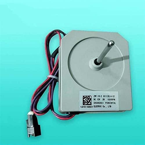 JINGERL Capacidad de reemplazo para el refrigerador Meiling Frigorífico Ventilador con congelación del Motor ZWF-10-2 B11120.4-12 DC12V 2W 1800RPM