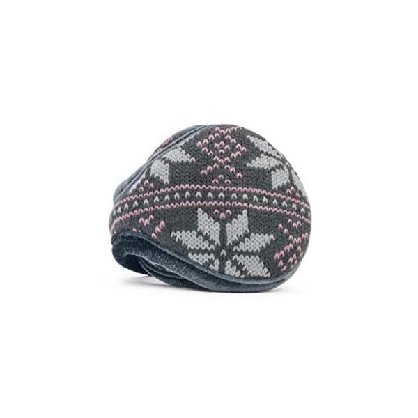 180s Women's Knit Behind-the-Head Fashion Ear Warmer | Premium Winter Earmuffs for Ladies