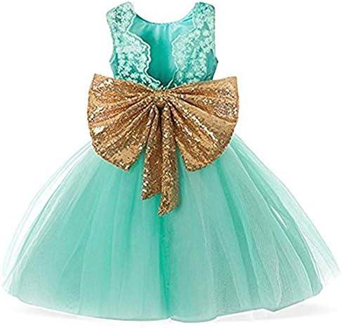 Toddler Dress Flower Girl Dresses for Wedding Girls Backless Sequins Pageant 6 12 Months Elegant product image