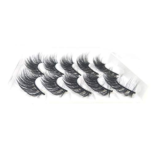 TOPSELD Make-up 5Pair 3D falsche Wimpern Fluffy-Streifen Augen Mix Wimpern Natürliche Partei