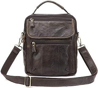 YXHM AU Men's Genuine Leather Retro Business Single Shoulder Bag with Crazy Horse Leather (Color : Coffee)