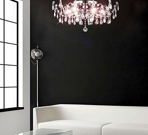 Strass Kristall Kronleuchter Deckenlampe Deckenleuchte Lüster Wohnzimmer Beleuchtung Kristallleuchte Wohnzimmerlampe klassisch XL 60cm 6xE14 Fassungen - 7