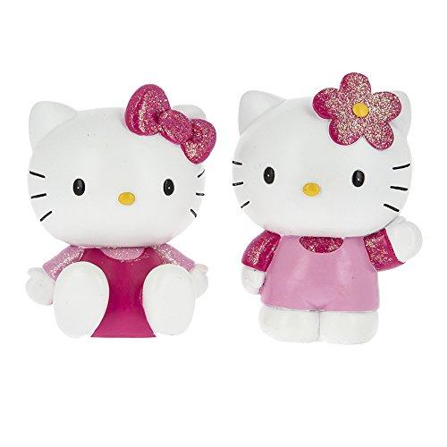 Car Bomboniere Hello Kitty Conjunto de huchas de Resina, de Colores, 2 Unidades