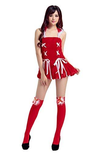 COMVIP Mujeres El traje Santa Claus Sra rol vestido