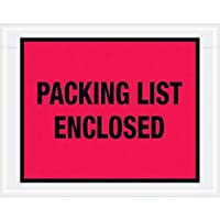 Top Pack Supply Tape LogicPacking List Enclosed Envelopes 7 x 5 1/2 Red (Pack of 1000) [並行輸入品]