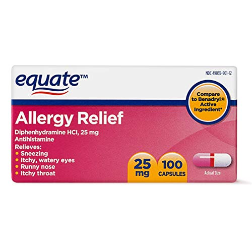 Equate Allergy Relief Diphenhydramine HCI, 25mg (2)