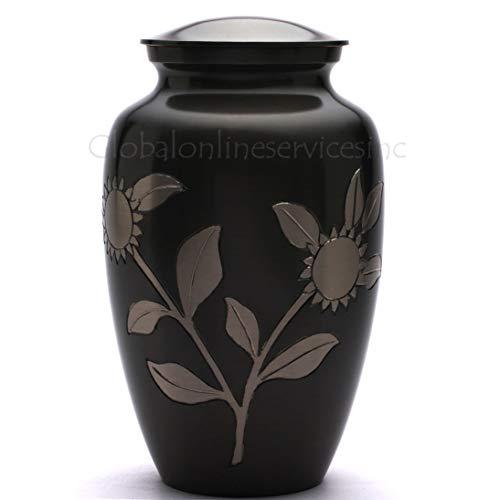 Adulte funérailles Mémorial Urns Cendres UK – Tournesol Laiton Urne funéraire pour Adulte