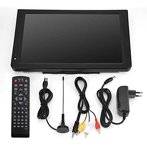 No application 11.6inch High Definition LCD TV Colored 1280800 High Resolution DVB-T/T2 Digital TV 1500mah Rechargeable Portable Analog Television with Antenna and Remote Control