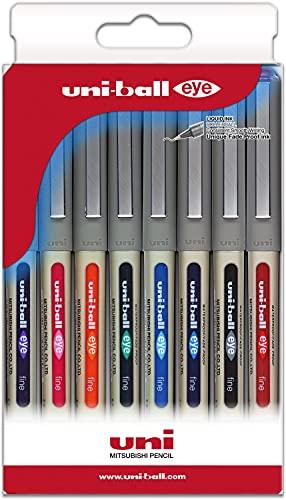 Uni-ball Astuccio 8 roller inchiostro liquido UB-157 colori assortiti