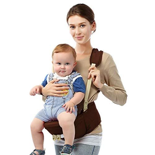 Ergonomische Babytrage Sommer Atmungsaktive Hocker EIN Schultergurt Baby Carrier Keine Säuglingseinsätze Einfache Stillen Muss Sich An Baby Wachstum Anpassen,Brown