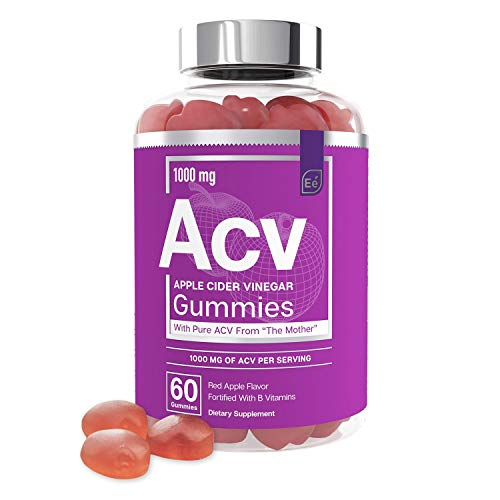 Apple Cider Vinegar Gummies from The Mother - All-Natural, Vegan ACV with Folic Acid and Vitamin B6 & B12 | by Essential Elements - 60 Count