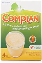 Complan 220 g Delicious Banana Flavour Drink – Pack of 4 sachets Estimated Price : £ 6,74