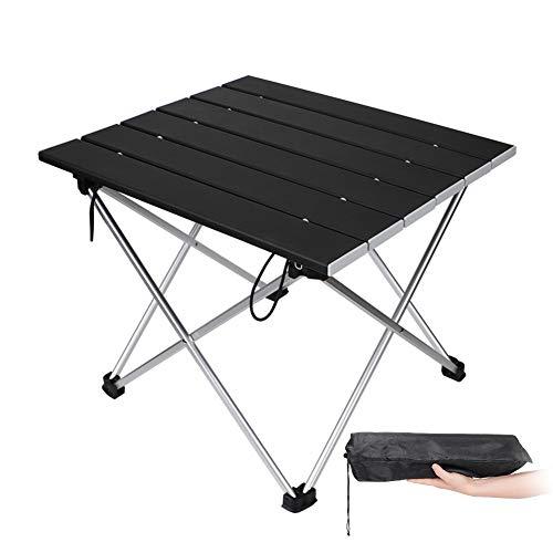 アウトドアテーブル Eletorot アルミ ロールテーブル ケース付 耐荷重30KG キャンプ用 折りたたみ式