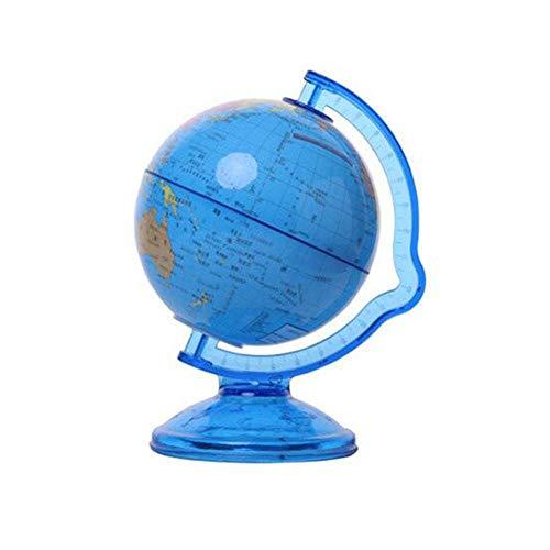 EDCV Kinderen spaarpot Storting opslaan Wereld Earth Globe Spaarpot Mini Spaarpot Veiligheid Terrarium Munten Kassa, Blauw