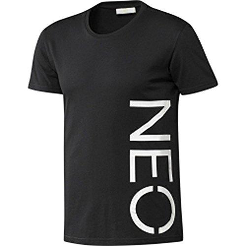 HQ2 adidas NEO Logo Tee Herren T-Shirt Rundhals Shirt G82629 Schwarz S