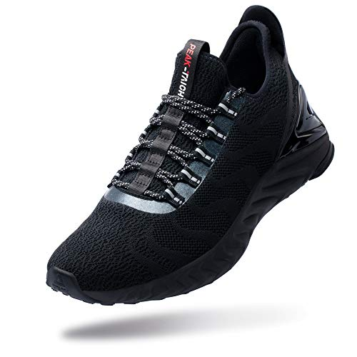PEAK Taichi King Women's Adaptive Smart Cushioning Running Shoes, Sneakers for Running, Walking, Fitness, Gym Black