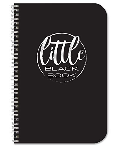 "BookFactory Little Black Book/Pocket Address Book/Mini Black Address Book - 100 Pages, 3.5"" x 5.25"", Wire-O (LOG-100-M3CW-PP-(AddressLB))"