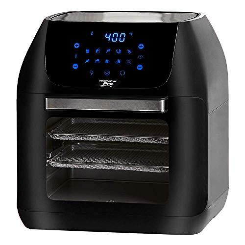 Power XL 10-in-1 1500W 6-qt Pro XLT Air Fryer Oven w/Rotisserie (Black) (Renewed)