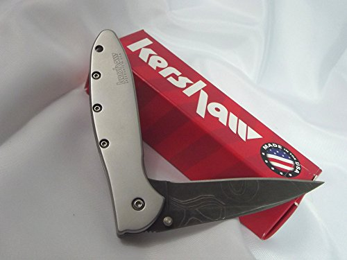 Kershaw Damascus Steel Leek Assisted Opening Stainless Handles