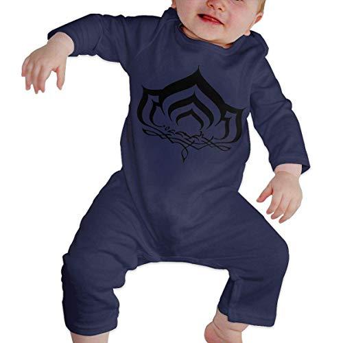 maichengxuan Mameluco Bebé Warframe Solid Pijama de Algodón Mameluco Niñas Niños Pelele Mono Manga Larga Trajes Newborn 6-24 Months
